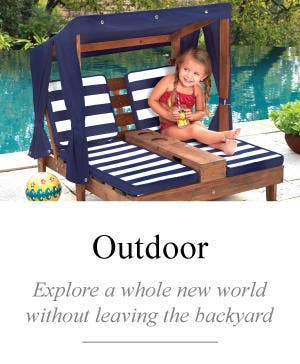 Children's outdoor furniture and play sets